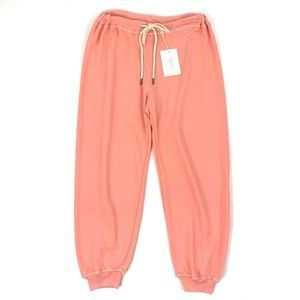 The Great. Cropped Sweatpants Peach Drawstring